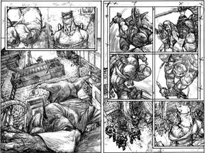 TMNT Page 2 and 3 Pencils