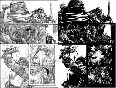 TMNT page 6 pencils and inks