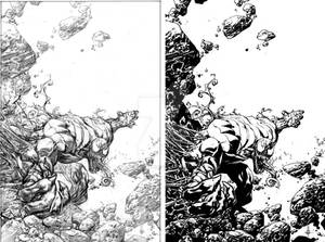Venom Spaceknight Cover 10 Pencils and Inks