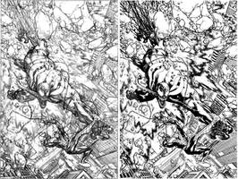 Venom Spaceknight Cover 11 Pencil and Ink