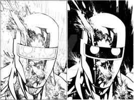Rom Cover 2 pencils and inks