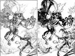 Venom Spaceknight Cover 13  Pencils and Inks Combo