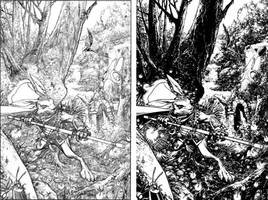 Buck Cover pencils and inks