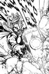THOR: WHERE WALK THE FROST GIANTS #1 Cover inks