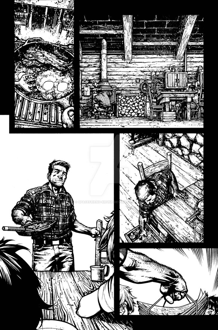 The Cape: Fallen #2 Page 4 Inks by Spacefriend-KRUNK