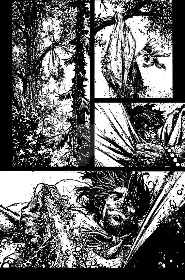 The Cape: Fallen Issue #2 page 21 inks by Spacefriend-KRUNK