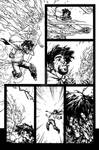 The Cape: Fallen Issue #2 page 17 inks