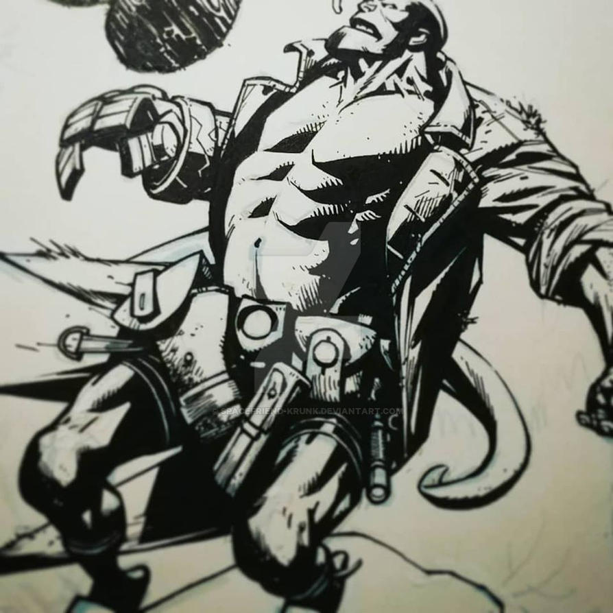 Hellboy Commission Wip by Spacefriend-KRUNK