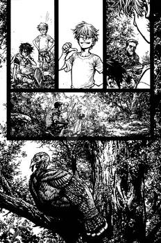 The Cape: Fallen Issue #3 page 2 inks