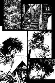 The Cape:Fallen Issue #2 page 18 inks