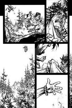 The Cape: Fallen Issue #3 page 16 inks