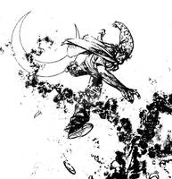 The Cape: Fallen Issue 4 panel crop inks 1g