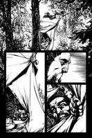 The Cape: Fallen Issue #2 page 19 inks