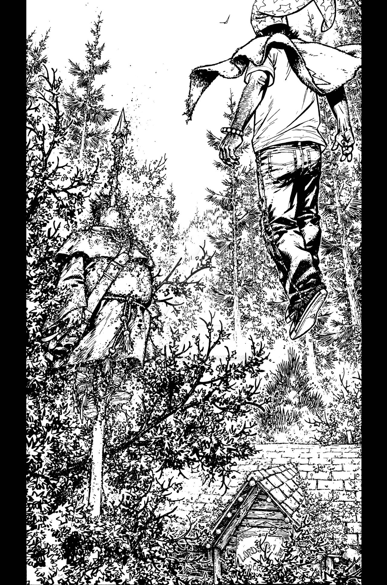 The Cape: Fallen Issue #3 page 18 inks