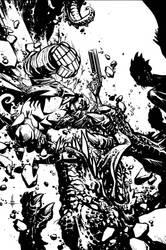 Hellboy: The Retun of Effie Kolb Cover2 Inks