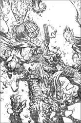 Hellboy: The Retun of Effie Kolb Cover2 pencils