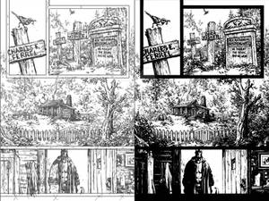 Hellboy Issue1 page 1 pencils and inks