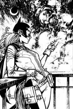 Batgirl Commision Inks