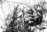 Dark Leo commission inks