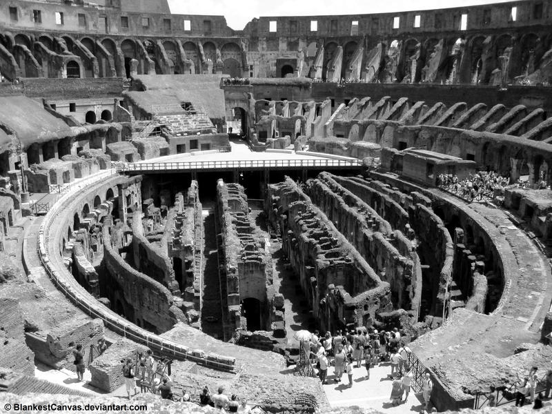 Inside the Colosseum by BlankestCanvas