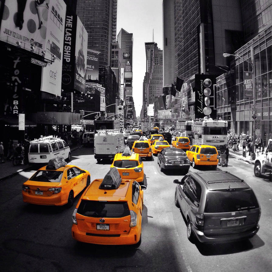 Yellow cabs as far as the eyes can see...
