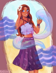 Katara Summer Clothes by Amphany