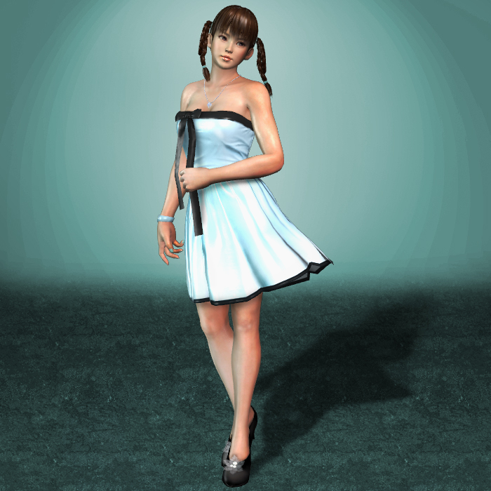 MESHMOD Lei Fang Blue Summer Dress by ArmachamCorp