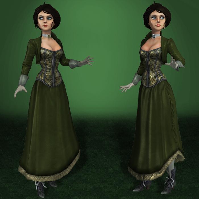 MESHMOD Elizabeth Gibson Girl by ArmachamCorp