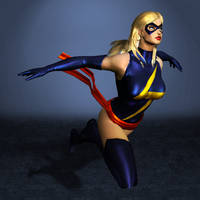 Marvel Heroes Ms. Marvel by ArmachamCorp