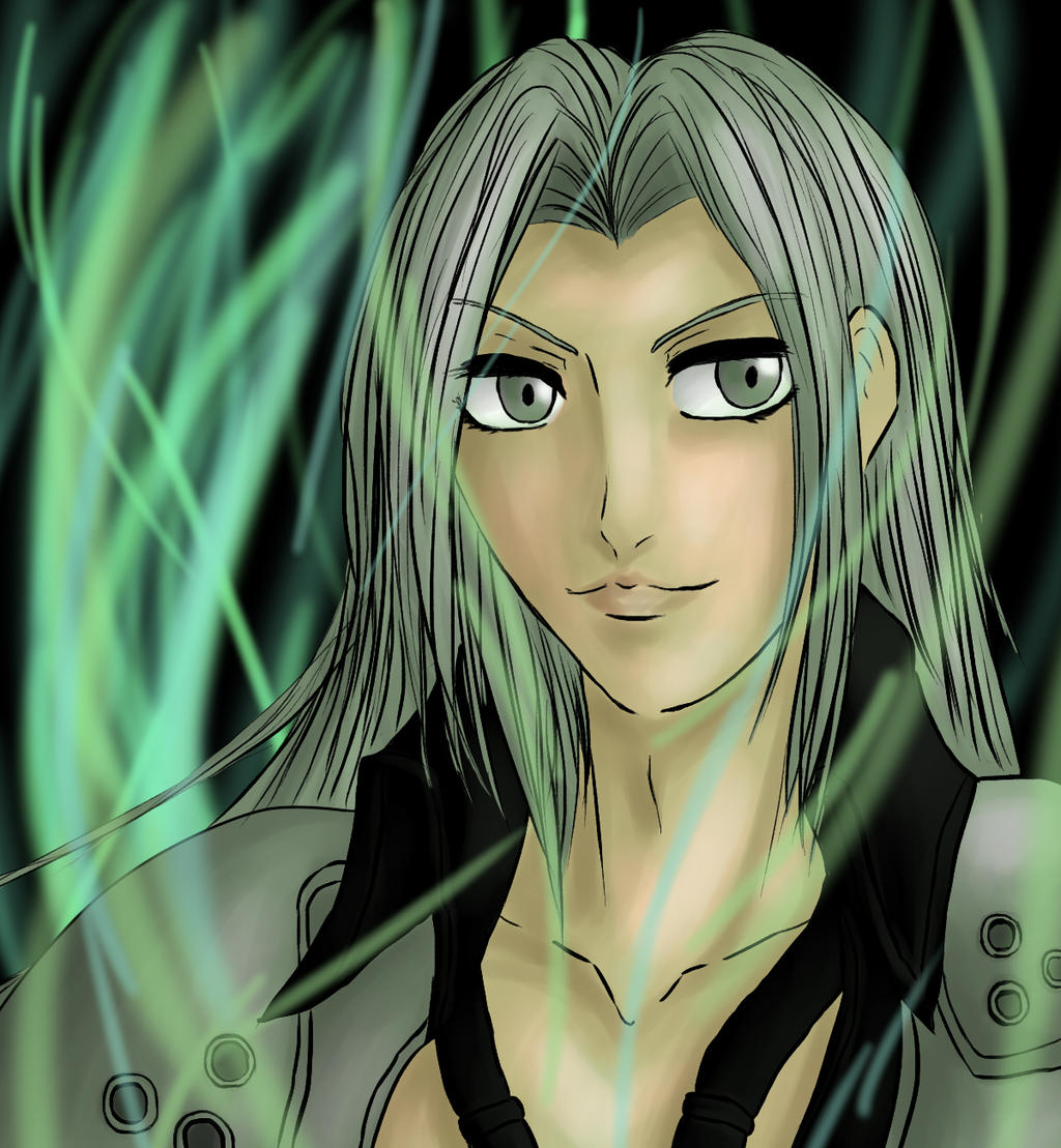 Sephiroth in the lifestream by Animefanka