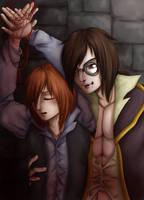 Vampire and his prey by Animefanka