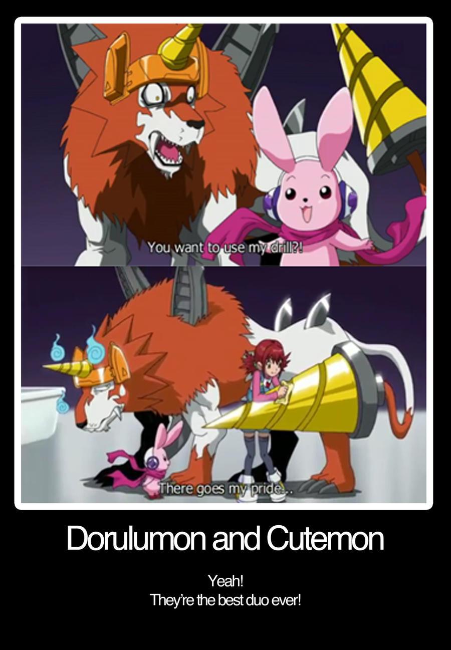 dorulumon and cutemon by avacnela on deviantart