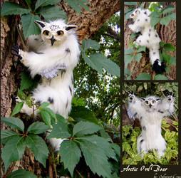 Arctic Owl Bear Doll