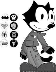 Punk Felix the Cat by MissKittyPTI