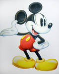 Color Pencil Mickey Mouse
