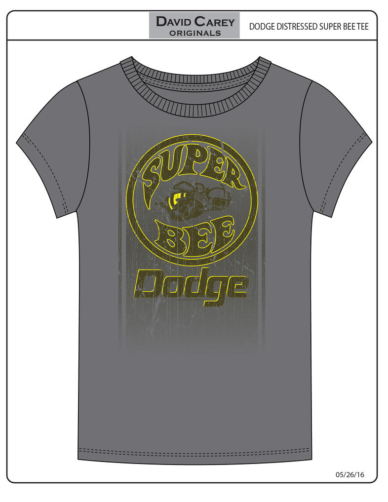 Dodge Distressed Super Bee Tee by stlcrazy