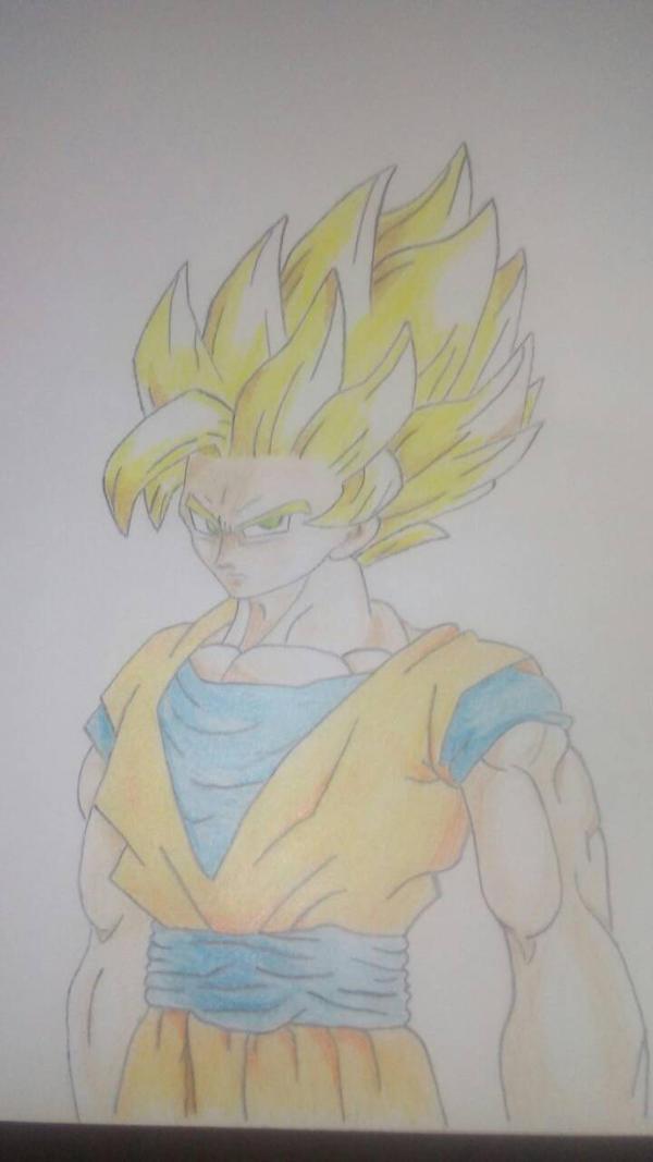 Super Saiyan 2 Goku By Demigod225 On Deviantart