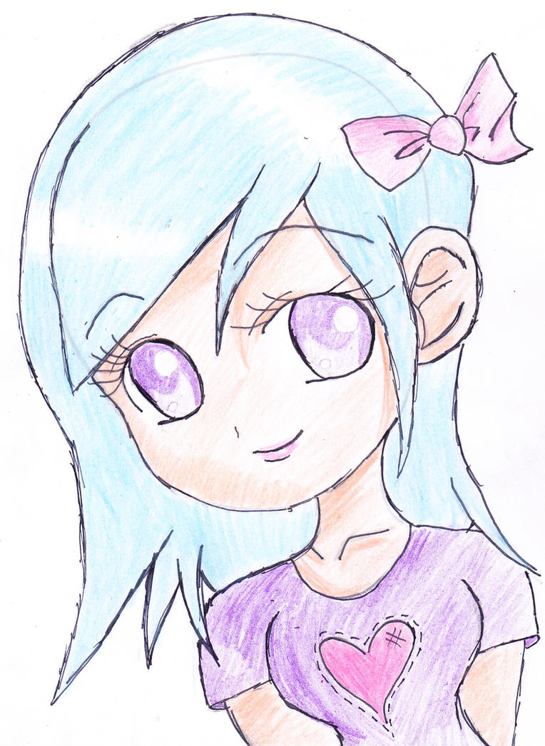 Cute chibi girl by biteme14 on deviantart for How to draw a cute girl easy