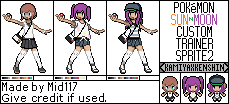 Pokemon Sun and Moon Custom Trainer Sprite 2 by mid117