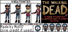 The Walking Dead Season3 Clementine Trainer Sprite by mid117
