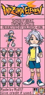 Inazuma Eleven Shirou Fubuki Trainer Sprite
