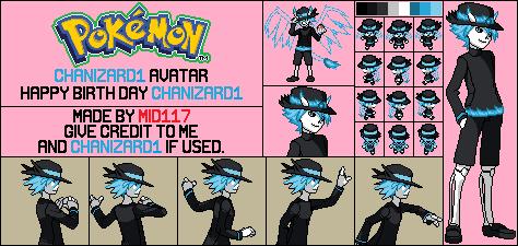 Chanizard Avatar Trainer Sprite by mid117