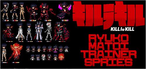 Kill la Kill Ryuko Matoi Trainer Sprite