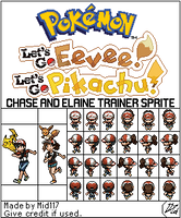 Pokemon Let's Go Pikachu n Eevee Chase and Elaine