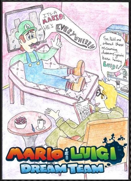 mario and luigi dream team fanart