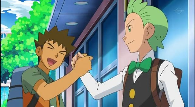 New screenshots: Brock returns and meets Cilan. by WalkerP