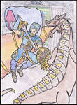 Marth slays Medeus: The Shadow Dragon by WalkerP