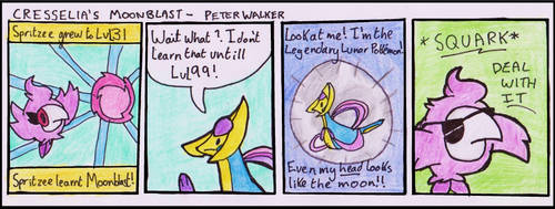 Comic: Cresselia's Moonblast! by WalkerP