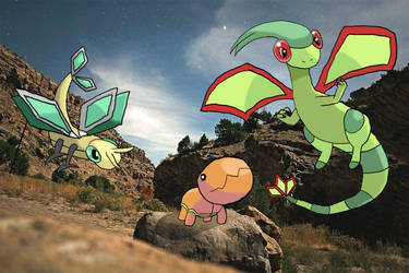 Trapinch, Vibrava and Flygon by WalkerP