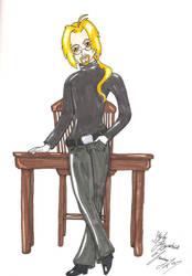 Professor Edward Elric - Color by TwilightFalcon